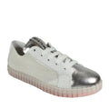 womens metallic sneakers silver spring summer