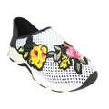 mesh sneaker all black spring floral