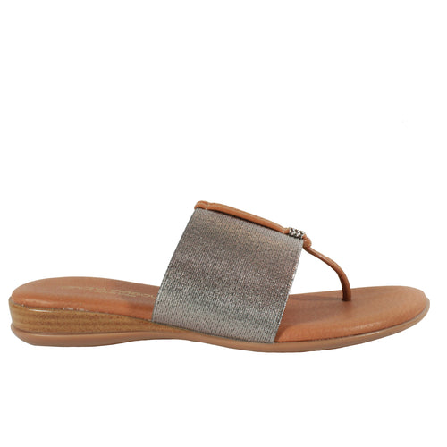 Nice 2 in Pewter flip flop metallic