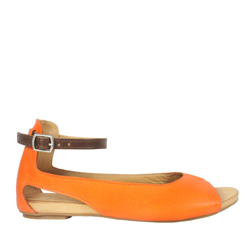 Donna in Sunset orange flats
