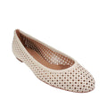 beige tan sand nude perforated flats womens