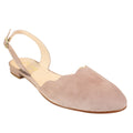 scalloped edge slingback womens new spring pastel