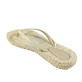pretty glitter metallic flip flop