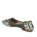 womens new fall flats embroidered