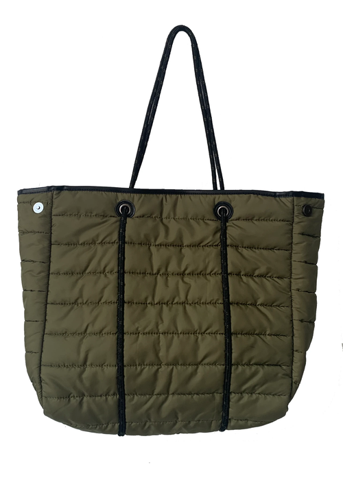 Puffy Tote in Army