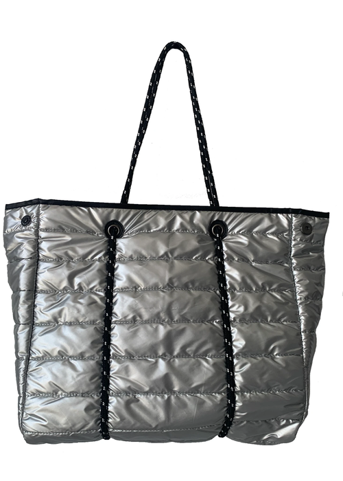 Puffy Tote in Silver