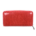 Rubina Zip Around Wallet in Crimson spring summer red