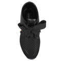 ribbon ties sneaker womens all black