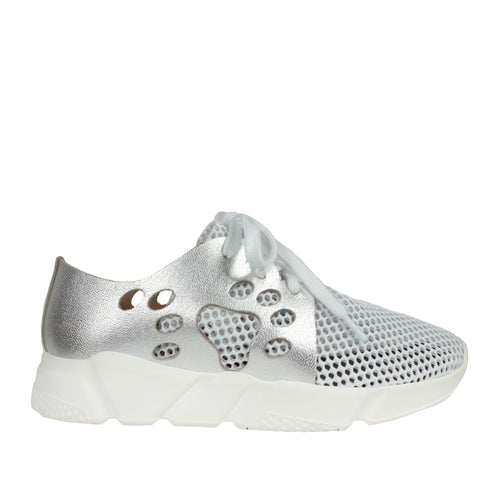 Holey Mesh in Silver sneakers