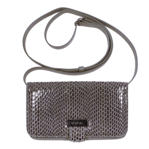 Rubina Cell Phone Bag in Slate grey brown