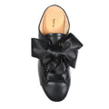 all black met bow slip on