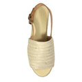 womens new natural jute wedge