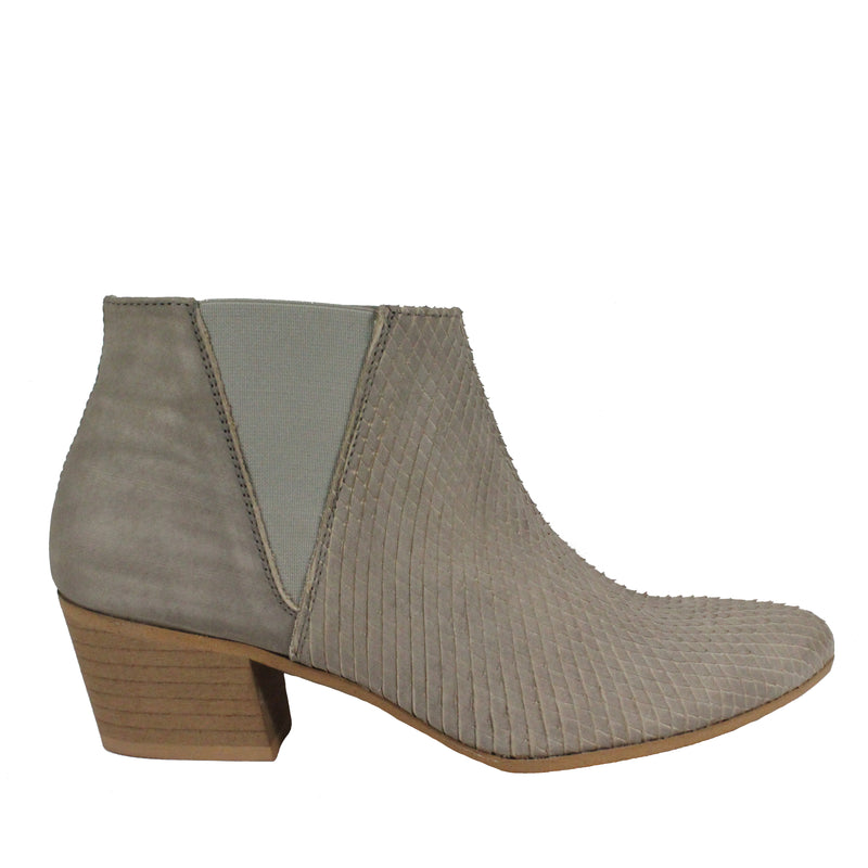 First Love in Taupe booties heels