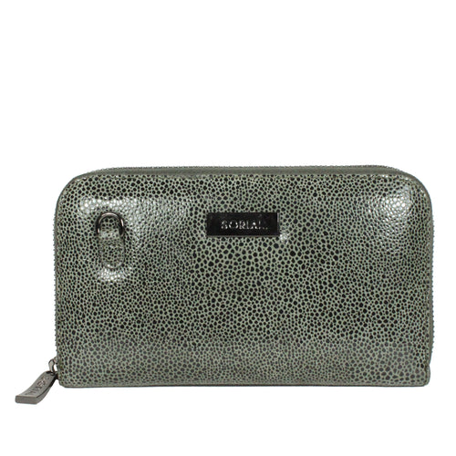 Oceana Chain Wallet in Dark Olive