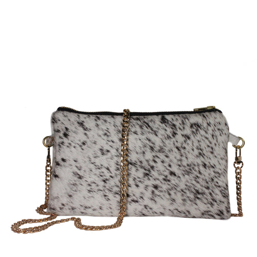 Hyde Crossbody in Black/White Speckled