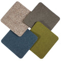 alpine square felt coasters