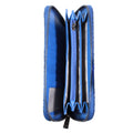 blue wallet cobalt clutch