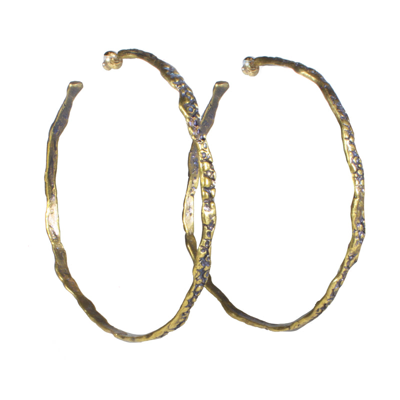 large stingray brass hoops