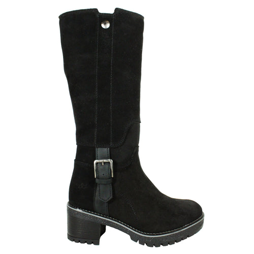 Major in Black tall black boot womens