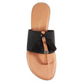flat black tassel flip flop nancy