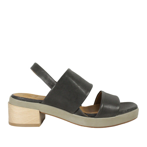 Tate in Rock Smog/Frida Celery platform sandals