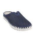 navy blue tulip perforated comfort slides