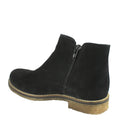 comfortable flat waterproof booties black