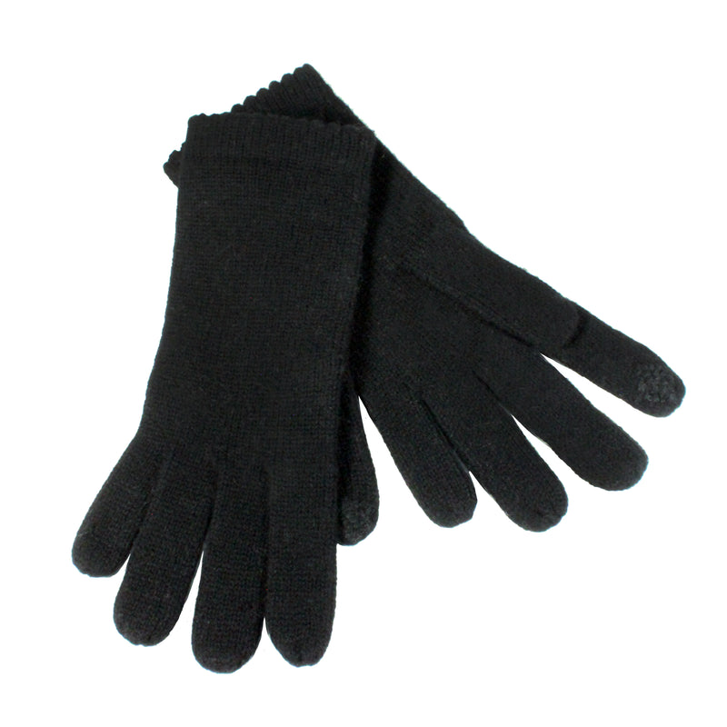black knit gloves crolina amato