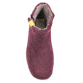 purple wool bootie slippers