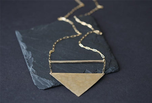 N156 Long Geo Necklace by Alexis Russell