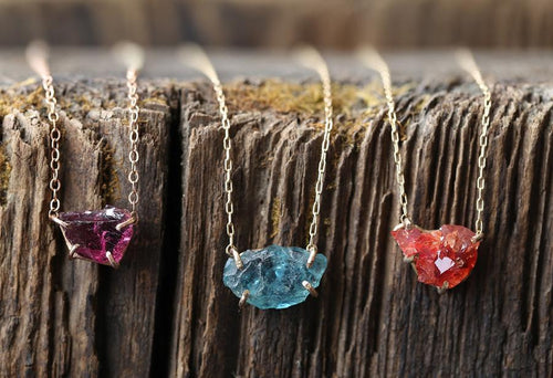 N153 Raw Gemstone Necklace by Alexis Russell
