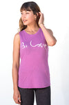 'BE LOVE' PERFECT FIT TANK - PINK ORCHID