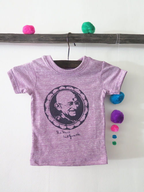 'GANDHI - BE TRUE' KIDS TEE (HEATHER LILAC)