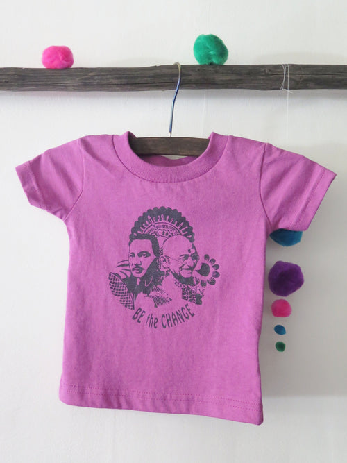 'BE THE CHANGE' KIDS TEE (PURPLE ORCHID)