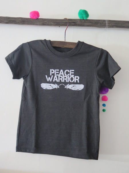 'PEACE WARRIOR' KIDS TEE (VINTAGE BLACK)