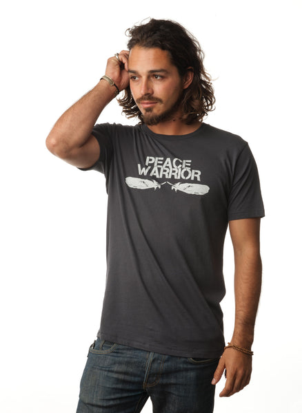 'PEACE WARRIOR' MENS ORGANIC TEE