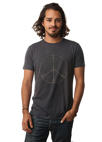 'PEACE ARROWS' MENS ORGANIC TEE