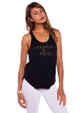 'KINDNESS IS MAGIC' SHIRT-TAIL TANK TOP