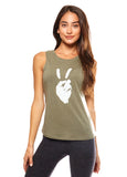 'PEACE SIGN' PERFECT FIT TANK TOP