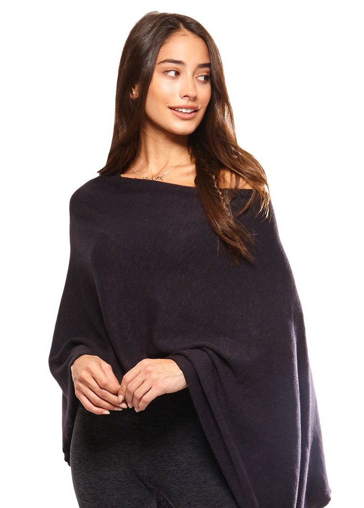 BE LOVE RUANA PONCHO - VINTAGE BLACK