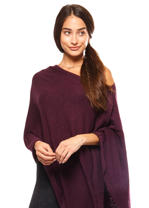 BE LOVE RUANA PONCHO - MERLOT