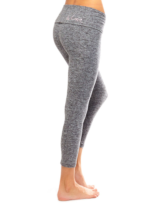 ULTRA SOFT AND STRONG HEATHER CROP PANT