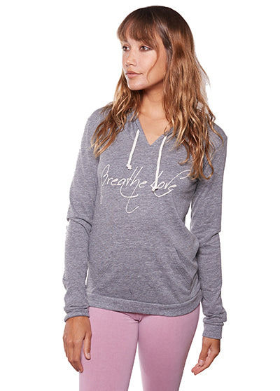 'BREATHE LOVE' LIGHTWEIGHT PULLOVER HOODIE