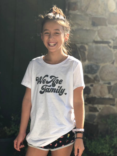 'WE ARE FAMILY' (white) - PROFITS DONATED TO TOGETHER RISING