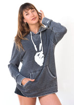 UNISEXY 'PEACE SIGN' FRENCH TERRY PULLOVER HOODIE