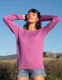 'I CHOOSE LOVE' ULTRA-SOFT RAGLAN SWEATER - SUNSET PINK