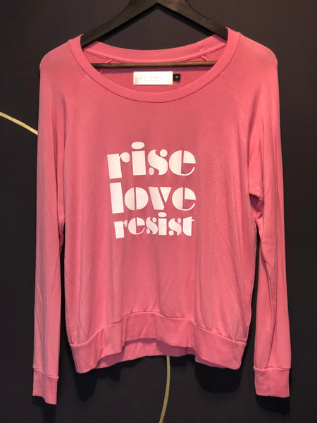'RISE LOVE RESIST' ULTRA SOFT RAGLAN PULLOVER