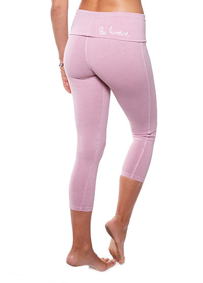 CROP YOGA PANT - Cashmere Rose