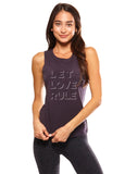 'LET LOVE RULE' PERFECT FIT TANK TOP