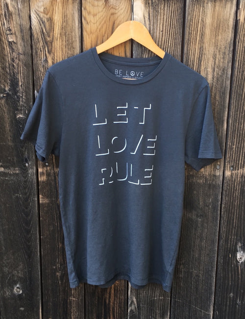 'LET LOVE RULE' MENS ORGANIC TEE